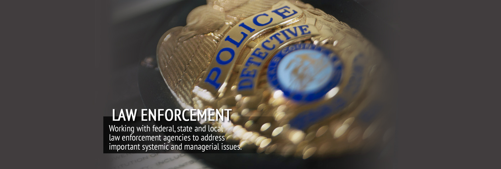 Slide 4 – Law Enforcement